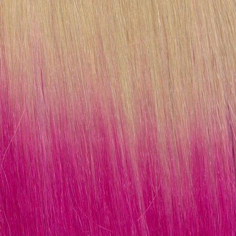American Dream Original Grade 100% cheveux humains 25,4 cm soyeuse droite Trame Couleur 613-pink – Blond Crème – Rose