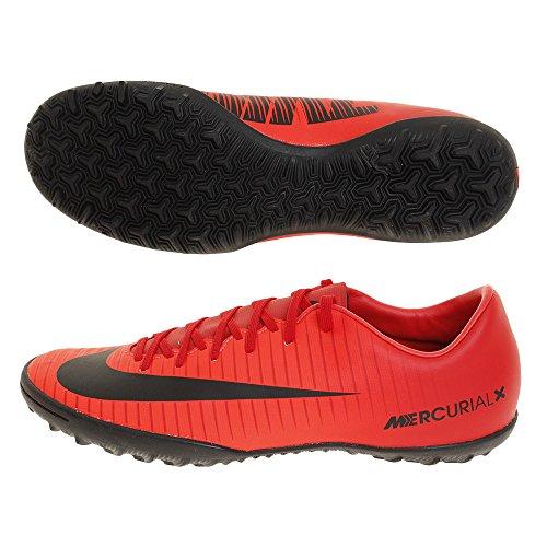 Nike Herren MercurialX Victory VI TF Fußballschuhe, Universität Rot/Schwarz-Helles Karmesinrot 616, 40 EU