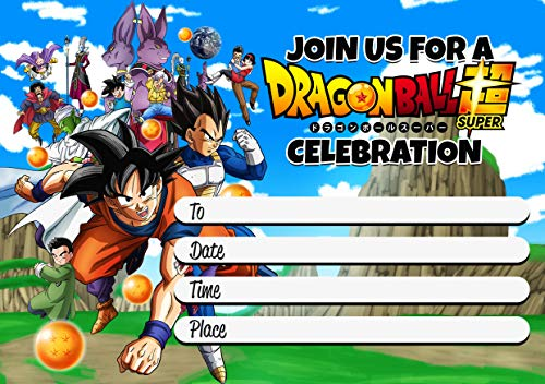 Dragon Ball Z Party Invitations (Pack of 20)