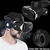 3D Virtual Reality Headset, Tsanglight VR Headset/Glasses with Built-in 3D Headphones for 4.5-6.0' Android/iOS for Samsung Galaxy S10 S9 S8 S7 Edge S6 + A10e, iPhone 11 Pro XS XR X 8 7 6 6S Plus etc