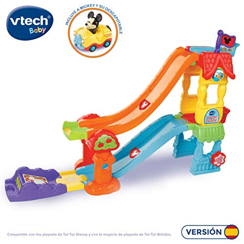 VTech Play Set electrónico interactivo con 'La Casita' y un coche exclusivo de Mickey (80-511822) , color/modelo surtido