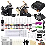 Solong Tattoo Complete Tattoo Kit 2 Pro Machine Guns 28 Inks Power Supply UK Plug Needle Grips Tips TK222