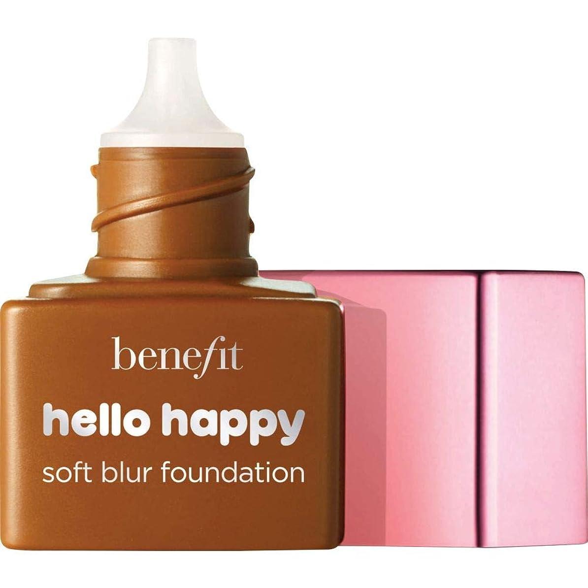 ギャロップブラインド配送[Benefit ] ミニ9 - - ハロー幸せソフトブラー基礎Spf15の6ミリリットルの利益中立深いです - Benefit Hello Happy Soft Blur Foundation SPF15 6ml - Mini 9 - Deep Neutral [並行輸入品]