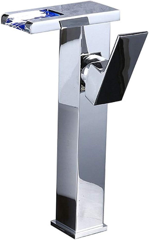 OrzXin Waschbecken Wasserhhne, EIN Griff Rechteck Waschbecken Wasserfall Wasserhahn Toilette Becken Mischbatterie