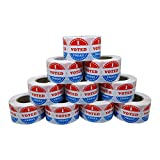 Aleplay I Voted Today Stickers 1.5' with American Flag Total 500 Stickers Per Roll (10 Rolls)