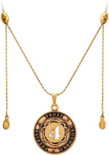 Alex And Ani Number 4 Rafaelian Gold Finish Expandable Necklace A15EN46RG