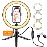 Video Light Dimmable LED Ring Light Ring lamp Photography Light with Phone Clip Holder Tripod Stand for YouTube Makeup Selfie