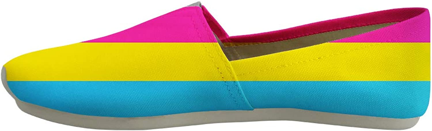 Owaheson Classic Canvas SlipOn Lightweight Driving shoes Soft Penny Loafers Men Women Pansexual Pride Flag