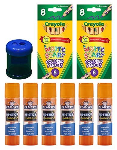 Crayola 8ct Write Start Colored Pencils| Elmer