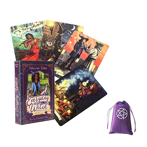 Everyday Witch Oracle Cards English Tarot Card Tarot Deck Juego de Mesa para niños Adultos Tarjetas de Mesa Juegos Amantes,Deck Game,with Bag