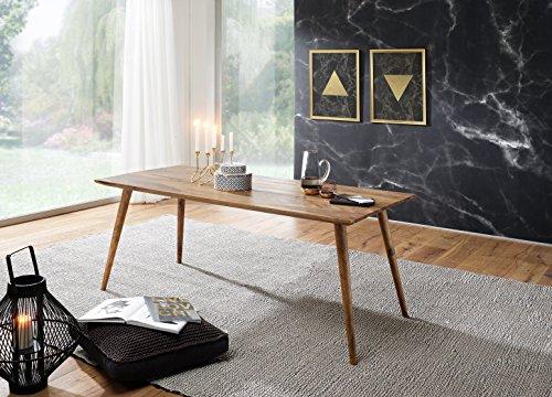 Esszimmertisch REPA 120 x 60 x 76 cm Sheesham rustikal Massiv-Holz Design Landhaus Esstisch Tisch für Esszimmer rechteckig 4-6 Personen