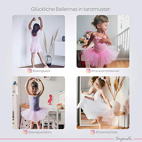 tanzmuster Falda de Ballet Cruzada de Gasa