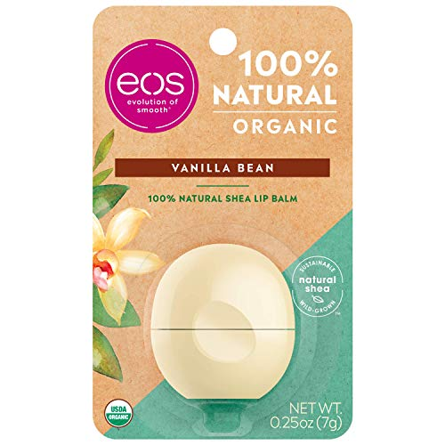 eos USDA Organic Lip Balm - Strawberry Sorbet | Lip Care to Moisturize Dry Lips | 100% Natural and Gluten Free | Long Lasting Hydration | 0.25 oz