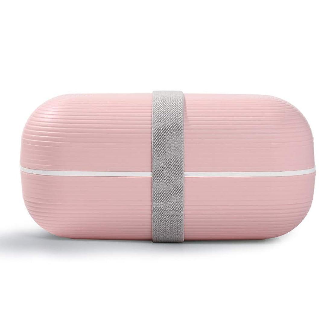 協力する逮捕ポンプポータブルランチボックス電子レンジ加熱ランチボックス 大容量 ランチボックス 保温弁当箱 ピクニックケース (ピンク)