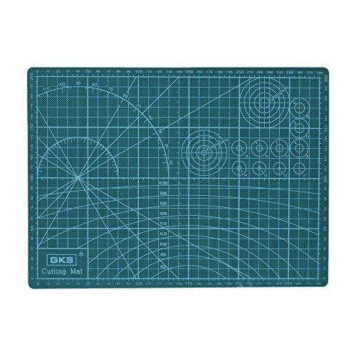 KKmoon GKS PVC A4 tabla de corte doble cara 300mm*220mm*3mm,verde