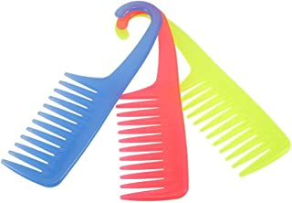 Anself Large Wide Tooth Hair Comb Anti-Static Detangling Comb with Hanger ABS Plastic, Color Random