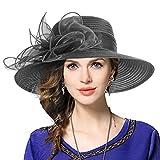 Mujer Derby Church Baptism Dress Tea Party Sombreros de Boda