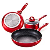 HITECLIFE Saucepan with Lid 2 Quart Nonstick Sauce Pan,...