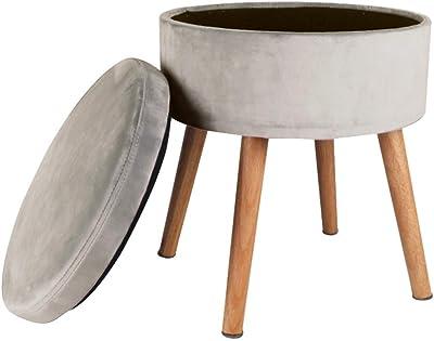 Woltu sh08cm pouf contenitore sgabello basso sedia rotonda