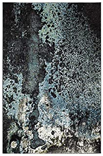 "Safavieh Glacier Collection GLA124B Modern Contemporary Abstract Area Rug, 2' 3"" x 4', Blue/Multi (B082PJSNW6) 