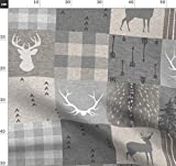 Hirsch, Wholecloth, Quiltoptik Stoffe - Individuell