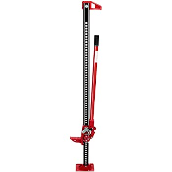 """Anbull 60"""" Farmer Jack Stand, 3.5 Ton Heavy Duty With Rubberized Grip, Racheting Adjustable Off Road Truck SUV Bumper"""