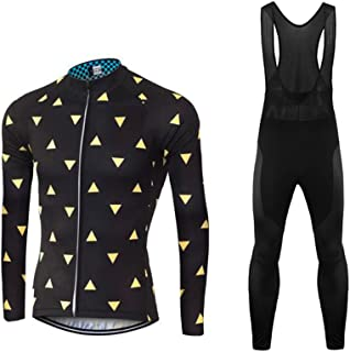 Uglyfrog 2018 Men's Spring & Summer Breathable Long Sleeve Cycling Jersey and 3D Silicone Padded Pants Set Outfit SPIFY12