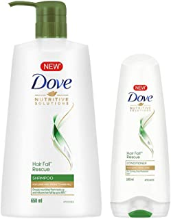 Dove Hair Fall Rescue Shampoo, 650ml + Dove Hair Fall Rescue Conditioner, 180ml