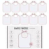 Sweet Safety Baby - Juego de baberos para pintar (algodón, 10 unidades), color...