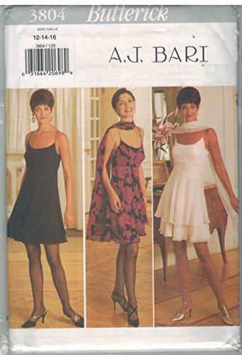 3804 Schnittmuster Butterick für Damen, Kleider, Stola, Größe 38 - 42