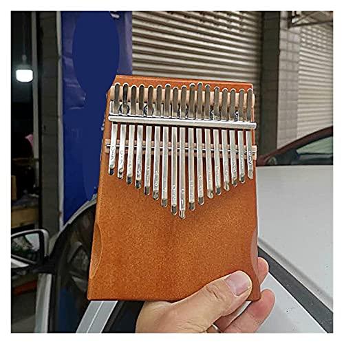 WSZMD Klavier 17 Tasten Thumb Piano Mahagoni Musikinstrument Anfänger Mit Zubehör Anweisungen Tuning Hammer (Color : Brown Nude Piano)
