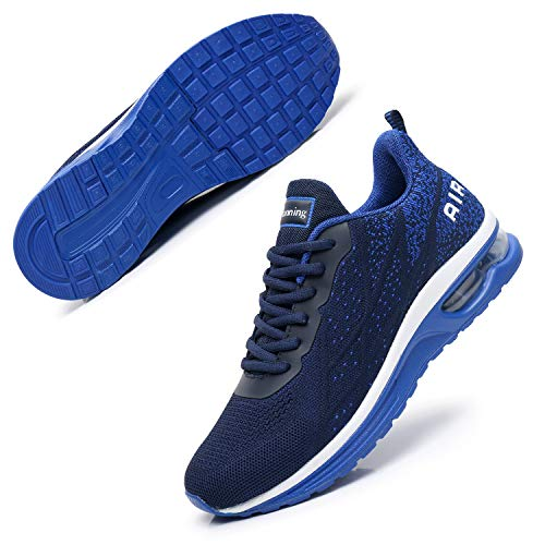 AMAXM Mens Air Tennis Shoes Athletic Running Sneakers Breathable for Sport Jogging Gym(Darkblue01 US9 D(M)
