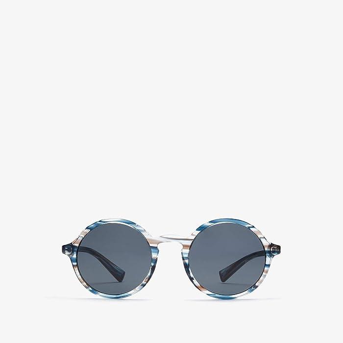 Dolce and Gabbana  DG4342 (Striped Blue/Light Grey) Fashion Sunglasses