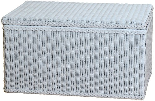 korb.outlet Spielzeugtruhe/Wäschetruhe aus Rattan in der Farbe grau groß