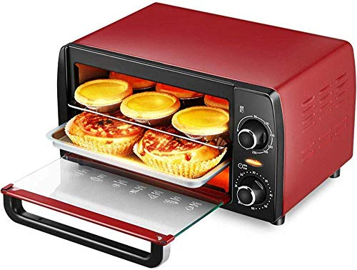 CCLLA Mini Forno Elettrico da 9 Litri, Forno a convezione Multifunzionale con tostapane, Forno per la Cottura in lamiera zincata per Uso Domestico con stoviglie