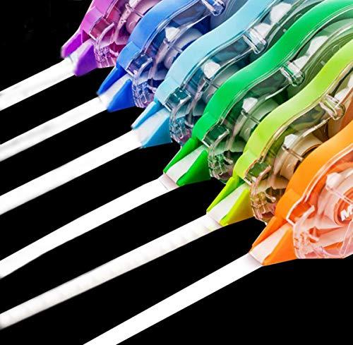 Liuer 18PCS Cinta Correctora Cinta de Escritura Rodillo Corrector para Estudiantes Papelería Escolar Oficina Material Escolar(10m x 5mm)