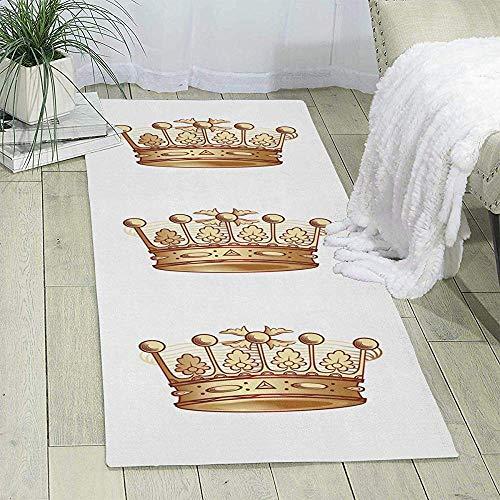 Kennedy Thomson Royal Crown Print Area Teppich Läufer Teppich Wohnzimmer Teppich Flur Teppich...