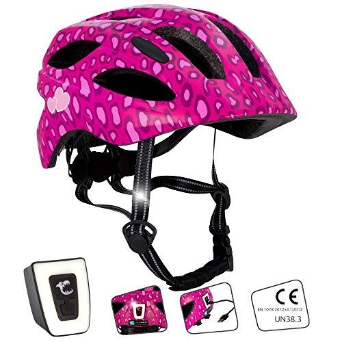 Crazy Safety Fahrradhelm für Kinder (Leopard, 54-58)
