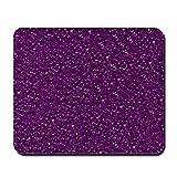Alfombrilla de ratón con purpurina brillante, alfombrilla de ratón, para ordenador portátil, accesorios de escritorio, antideslizante, bordes cosidos, resistente al agua, 25 x 30 cm