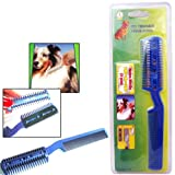Symak Sales Co Pet Dog Cat Hair Trimmer with Comb + 2 Razor Cutting Grooming Cut Care New Save