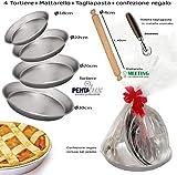 Pedrini Idea Regalo Pasqua San Valentino Festa della Mamma Kit 4 ruoto (Stampo tortiera) per...
