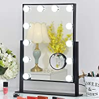 FENCHILIN Lighted Makeup Mirror Hollywood Mirror Vanity Makeup mirror with Light Smart Touch Control 3Colors Dimable...