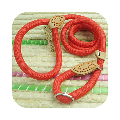 Almighty-shop Round P Rope Walk Dog Training P Rope to Tighten Retractable Dog Traction Rope-red-Roughness 1.6 cm