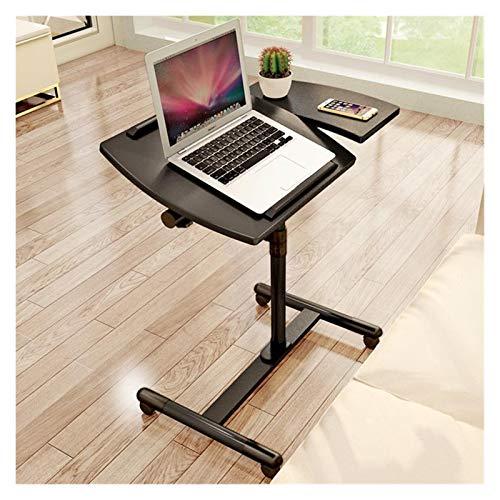Mesa de sobrecama con ruedas portátil simple mesa portátil para cama altura y ángulo ajustable escritorio de computadora escritorio de oficina con rueda de freno universal (color: 2)