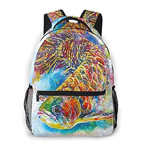 Kanxdecor Lässiger Rucksack,Arowana Fisch Magie Feng Shui Aquarium Chines,Travel Bookbag With Zipper,For Business, School, Work, Laptop Bookbag 16
