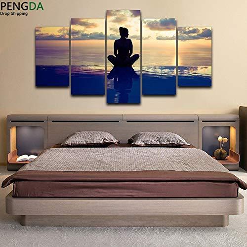 MMLFY 5 lienzos Wall Art Pictures Canvas Art Impreso Pintura Decoración para el...