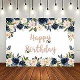Lofaris Happy Birthday Floral Backdrop...
