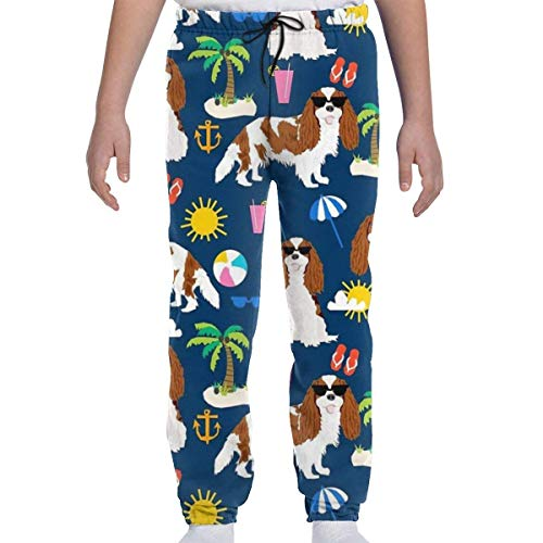 Desconocido Summer Vacation Dogs Beach Day Jogger Pants Pantalones de chándal Casuales...