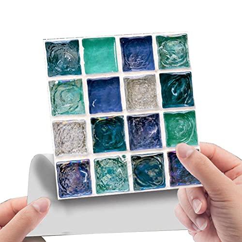 Ozgkee 30 pegatinas de azulejos de cristal 3D, autoadhesivas, pegatinas de pared de cocina, baño, azulejos de azulejos de bricolaje en la pared, pegatinas de estilo de azulejos
