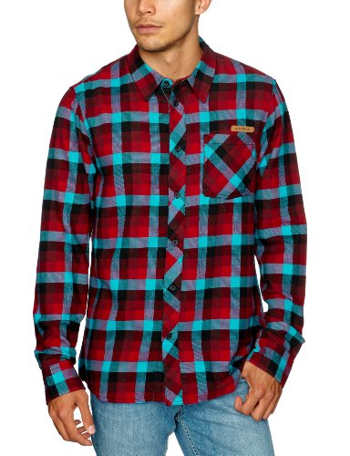 O'Neill - Chemise - Homme - Multicolore (Red All Over Print/Blue) - FR : XX-Large (Taille fabricant : XXL)
